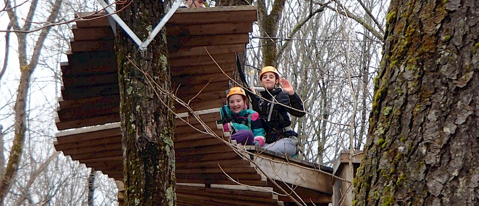 Students learn important communication skills up in the trees!