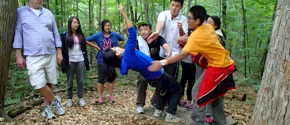 Low ropes activities are unbeatable for learning teamwork, trust and leadership skills.