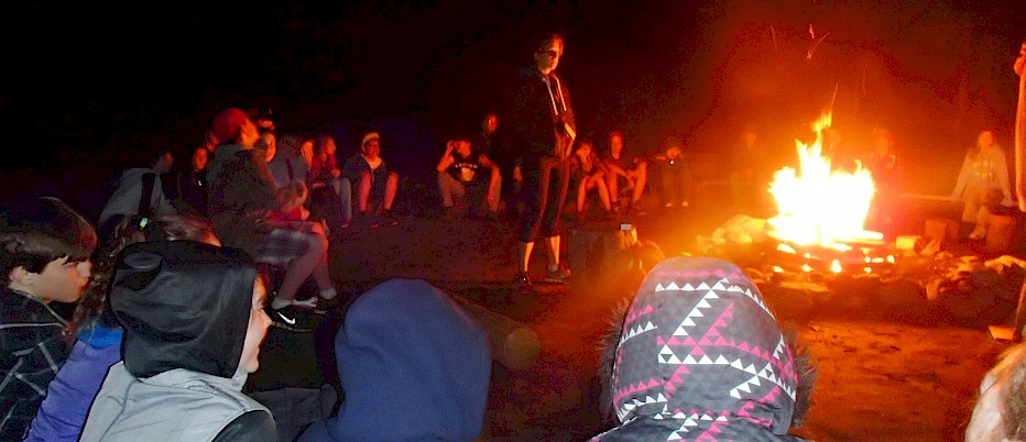 Relax with some stories and songs around a toasty campfire! There