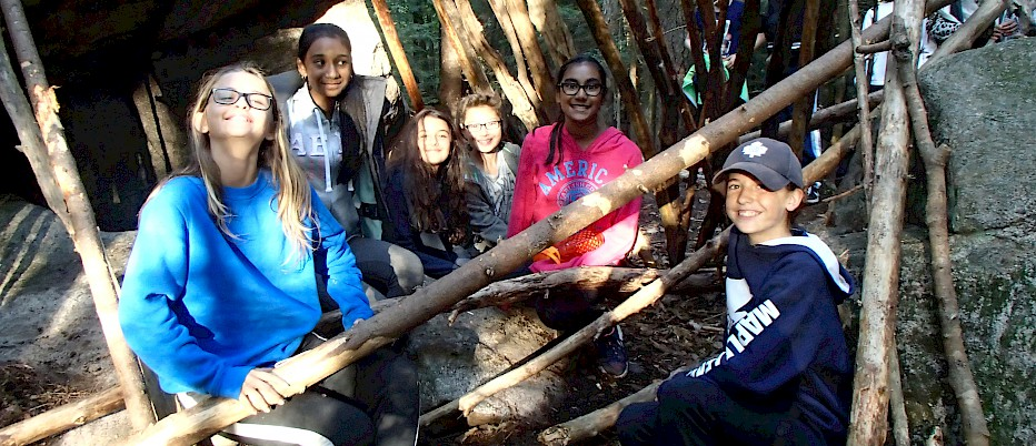 Shelter building with students is a great skill to have.