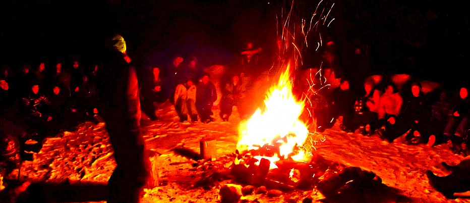 Finish off your evening with some stories and songs around a toasty campfire! There