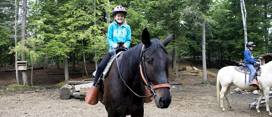 Horseback riding is a most wonderful way to start the day!