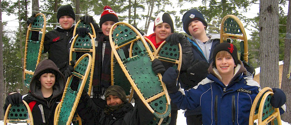 Camp Muskoka in the winter is a very special place. Learning to snowshoe is just the beginning!